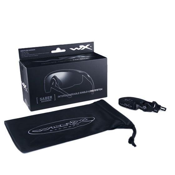 Gafas Wiley X Saber Advanced con lentes en Vermillion y montura en negro mate