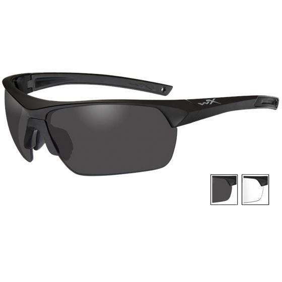 Gafas Wiley X Guard con lentes ahumadas + transparentes y montura en negro mate