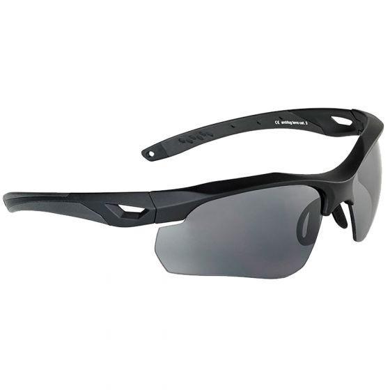 Gafas de sol Swiss Eye Skyray con lentes ahumadas + transparentes y montura de goma en negro