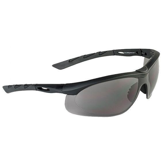 Gafas de sol Swiss Eye Lancer con lentes ahumadas y montura de goma en negro