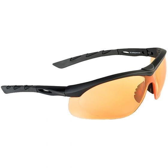 Gafas de sol Swiss Eye Lancer con lentes naranjas y montura de goma en negro
