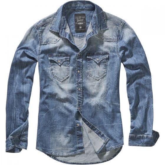 Camisa vaquera Brandit Riley en azul