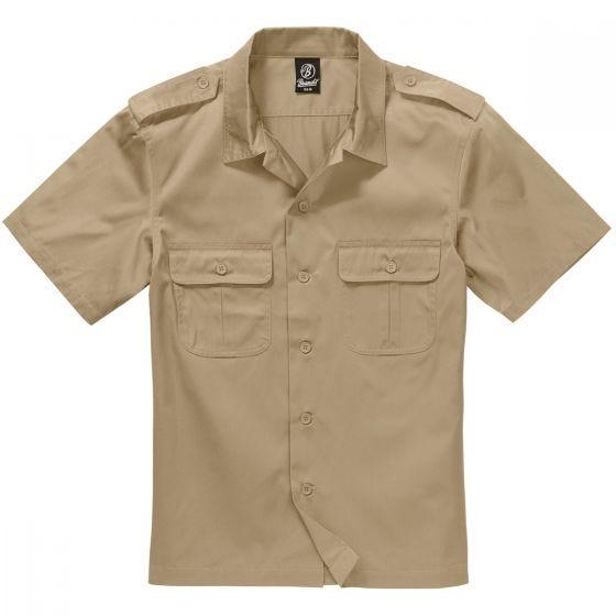 Camisa de manga corta Brandit US en beige