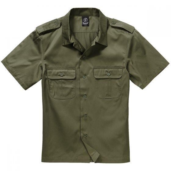 Camisa de manga corta Brandit US en verde oliva
