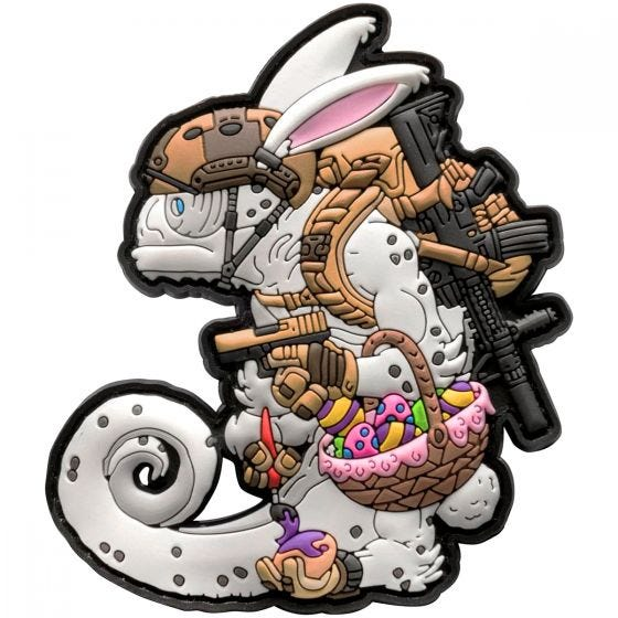 Parche Patchlab Chameleon Easter Operator en blanco / Coyote