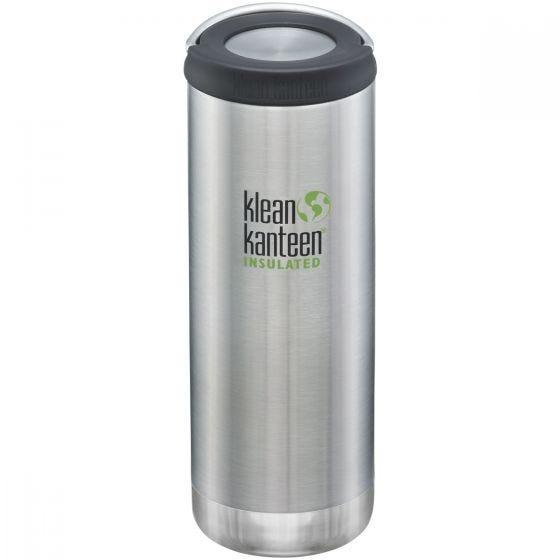 Botella térmica Klean Kanteen TKWide con tapón con agujero de 473ml en Brushed Stainless