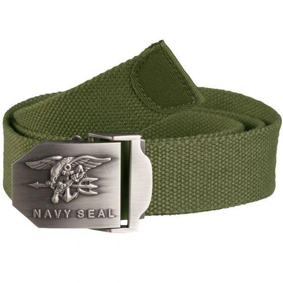 Cinturón Mil-Tec US Navy Seal 38 mm en verde oliva