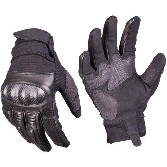 Guantes tácticos Mil-Tec Gen 2 de cuero en negro