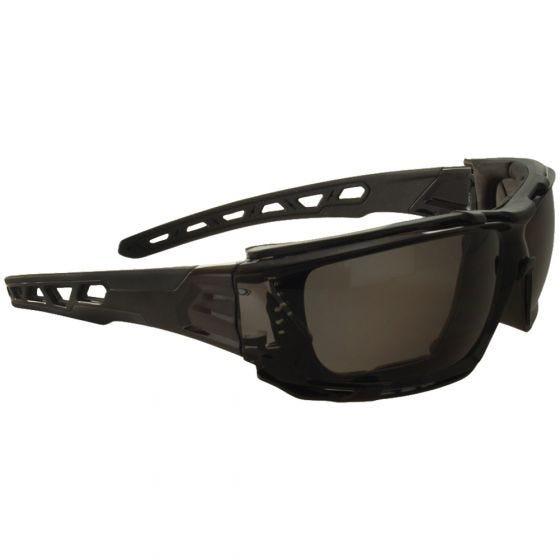Gafas de sol Swiss Eye con lentes ahumadas y montura con aberturas en negro / negro
