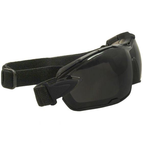 Gafas de sol Swiss Eye C-Tec Carbon con lentes ahumadas + transparentes y montura de goma en negro