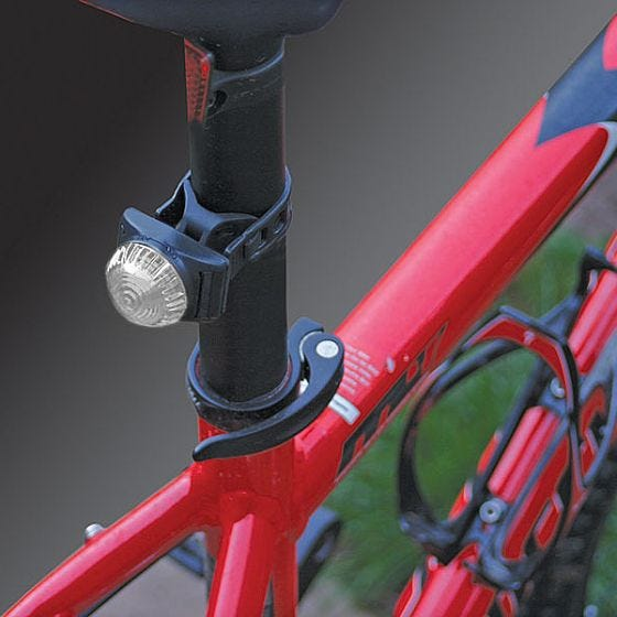 Luz LED para bicicleta Adventure Lights Guardian en blanco