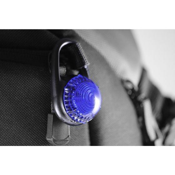 Luz de mosquetón Adventure Lights Guardian Tag-It en azul