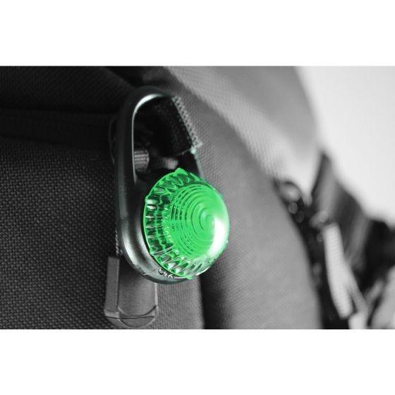 Luz de mosquetón Adventure Lights Guardian Tag-It en verde