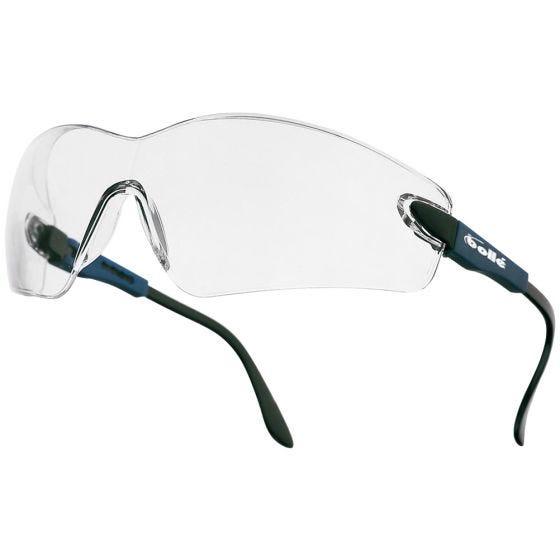 Gafas Bolle Viper II con lentes transparentes y montura en azul eléctrico