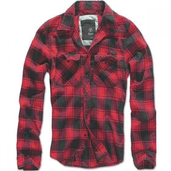 Camisa Brandit Check en rojo / negro