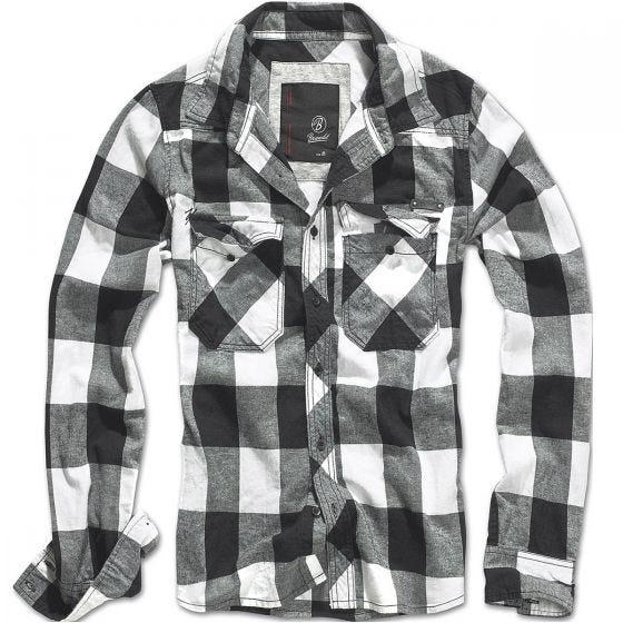 Camisa Brandit Check en blanco / negro