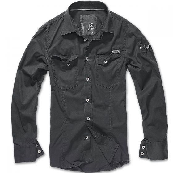Camisa Brandit entallada en negro