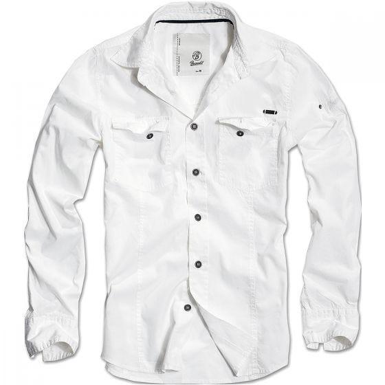 Camisa Brandit entallada en blanco