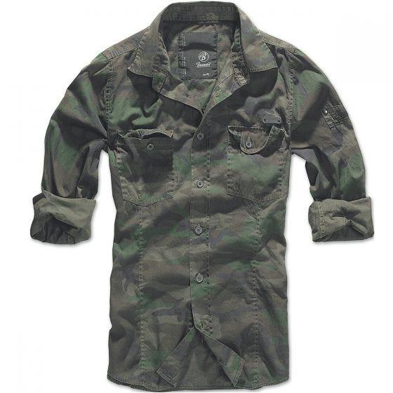 Camisa Brandit entallada en Woodland