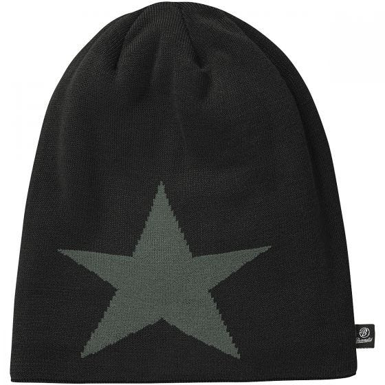 Gorro caído Brandit Star en negro