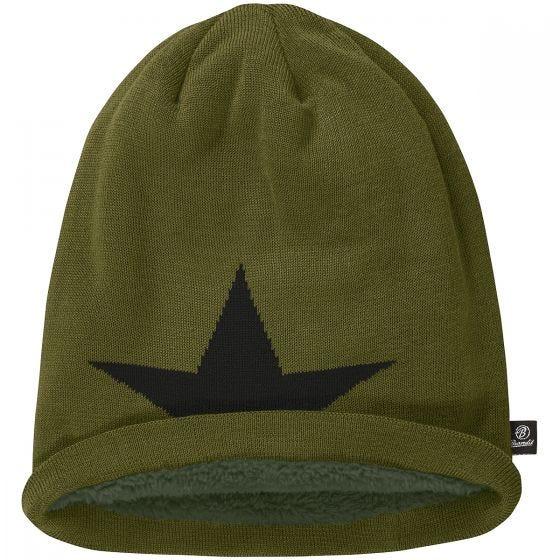 Gorro caído Brandit Star en verde oliva
