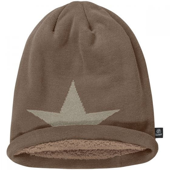 Gorro caído Brandit Star en marrón grisáceo