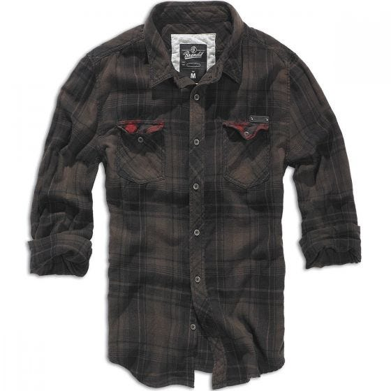 Camisa de cuadros Brandit Duncan en marrón / negro