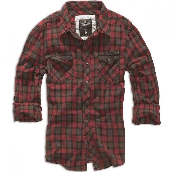 Camisa de cuadros Brandit Duncan en rojo / marrón