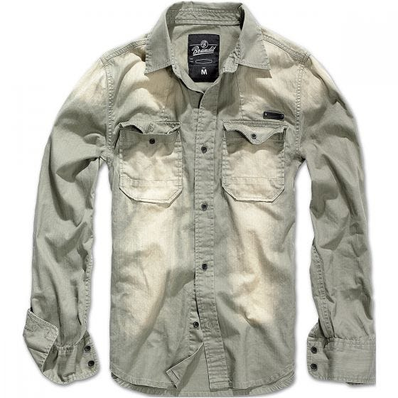 Camisa vaquera Brandit Hardee en gris