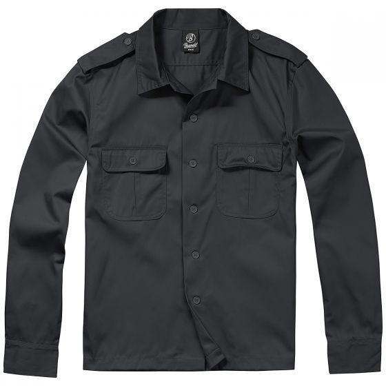 Camisa de manga larga Brandit US en negro