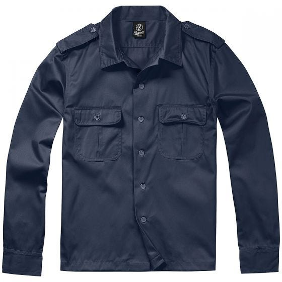 Camisa de manga larga Brandit US en Navy