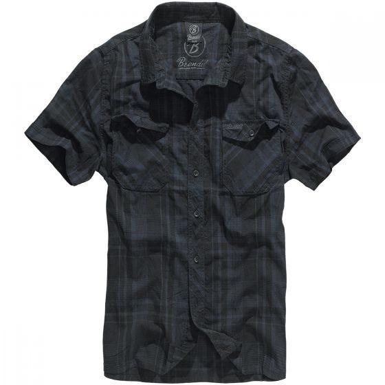 Camisa Brandit Roadstar en negro / azul