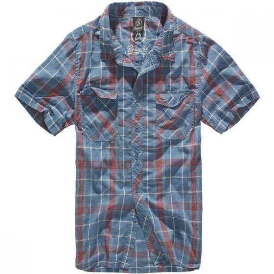 Camisa Brandit Roadstar en rojo / azul