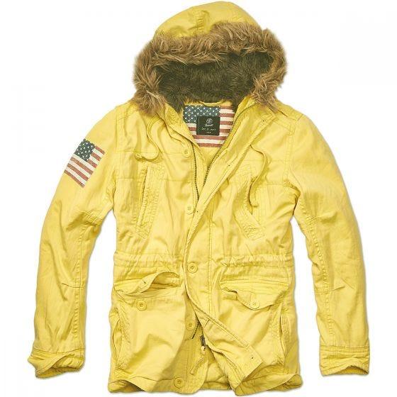 Chaqueta Brandit Vintage Explorer Stars & Stripes en amarillo