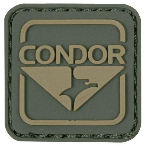 Parche Condor Emblem de PVC en verde y marrón