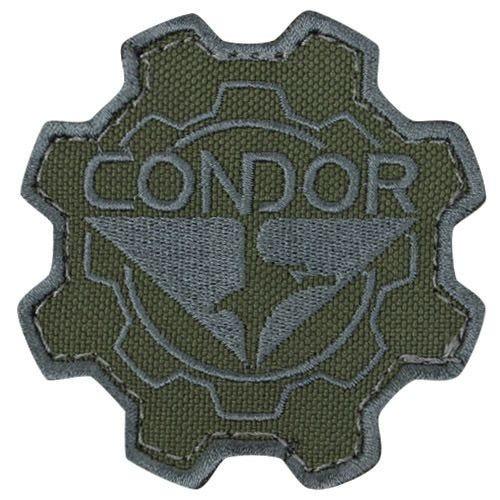 Parche Condor con diseño de rueda dentada en Olive Drab