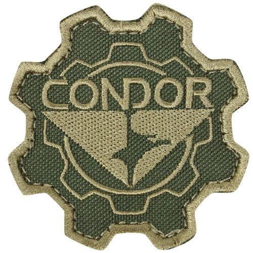 Parche Condor con diseño de rueda dentada en Tan