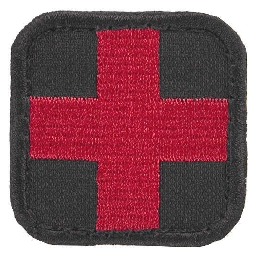 Parche con símbolo médico Condor en negro y rojo