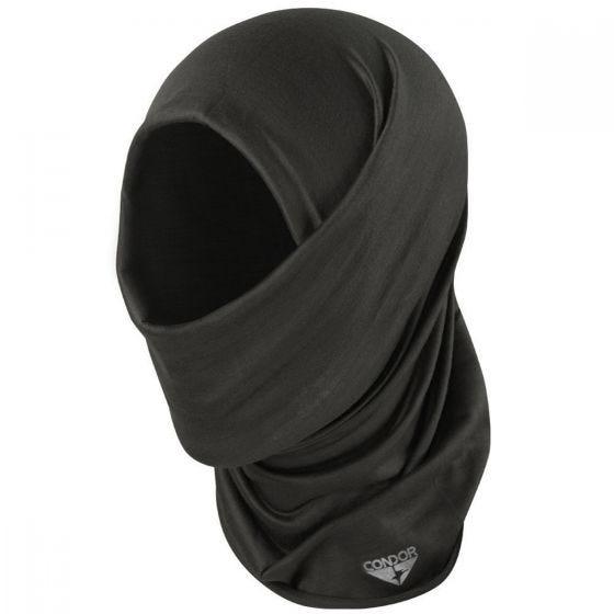 Pañuelo para la cabeza multiusos Condor en negro