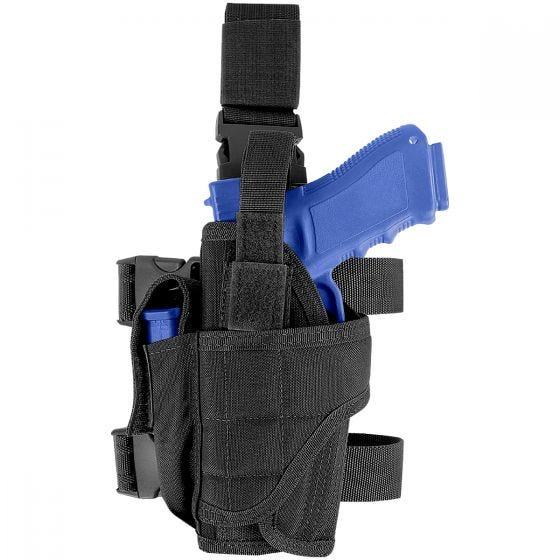 Funda de pistola para pierna izquierda Condor en negro