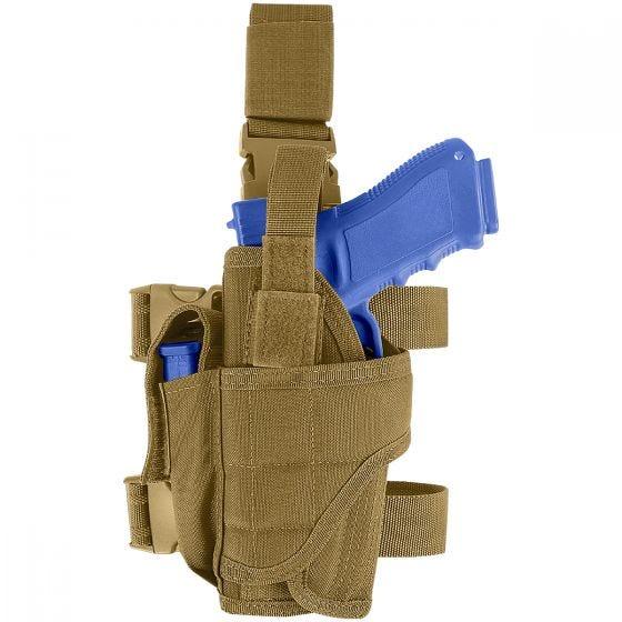 Funda de pistola para pierna izquierda Condor en Coyote Brown
