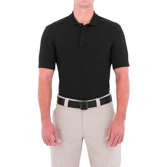 Polo de manga corta con portabolígrafos para hombre First Tactical hecho de algodón en negro