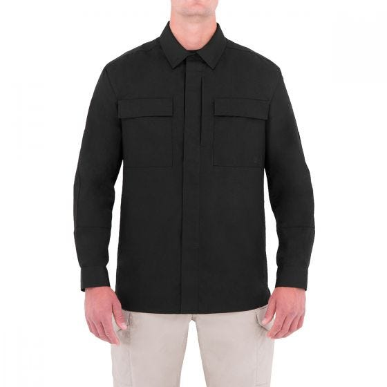 Camiseta de manga larga para hombre BDU First Tactical Specialist en negro