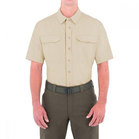 Camiseta táctica de manga corta para hombre First Tactical Specialist BDU en caqui