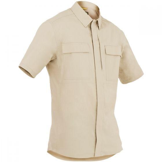 Camiseta de manga corta para hombre BDU First Tactical Tactix en caqui