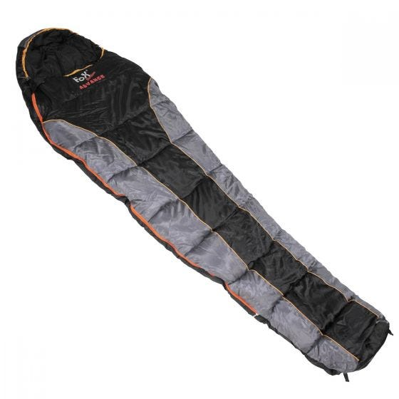 Saco de dormir Fox Outdoor Advance en negro / gris