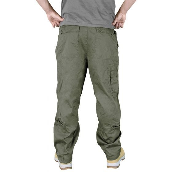 Pantalones de estilo cargo Surplus Infantry en verde oliva