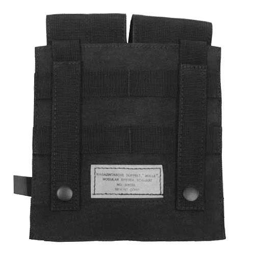 Portacargador doble MFH M4/M16 con sistema MOLLE en negro