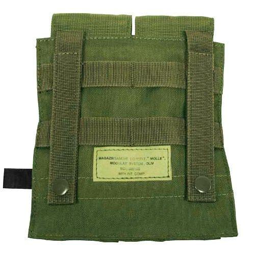 Portacargador doble MFH M4/M16 con sistema MOLLE en verde oliva