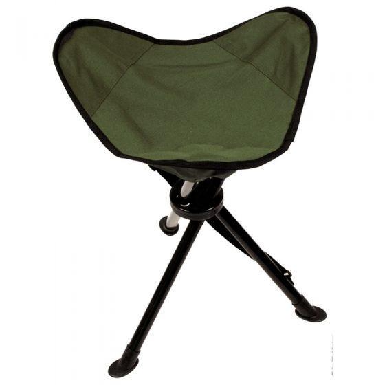 Taburete plegable de 3 patas MFH con bolsa de transporte